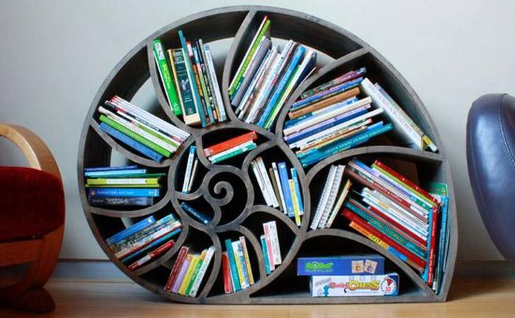 Nautilus Bookshelf - Cool bookshelves