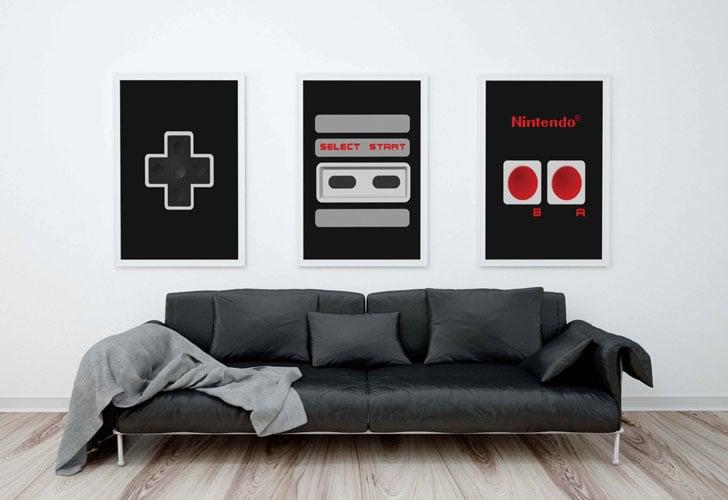 Nintendo Controller Wall Print