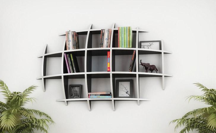 Oval Floating Shelves - Cool bookshelves