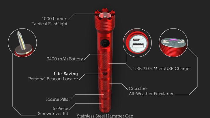 Pyyros Emergency Survival Flashlight Tool