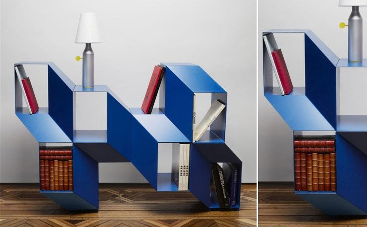 rocky bookshelf by charles kalpakian - Weird Bookshelves