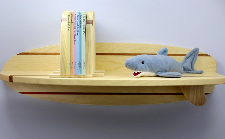 This Little Bookshelf Will Fit Into Any Room In Your House Its Handmade Of Pine And Mahogany Looks Like A Showcase Surfboard