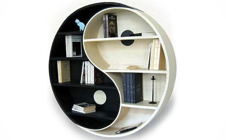 The Yin Yang Bookshelf - Cool bookshelves