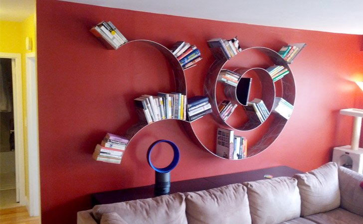 Trailing Spiral Bookshelf - Cool bookshelves
