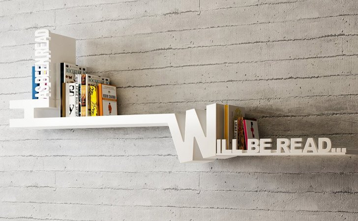 Typographic Bookshelf - Cool bookshelves