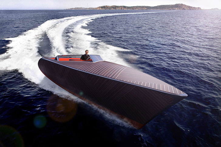 Zebra Electric Wooden Boat
