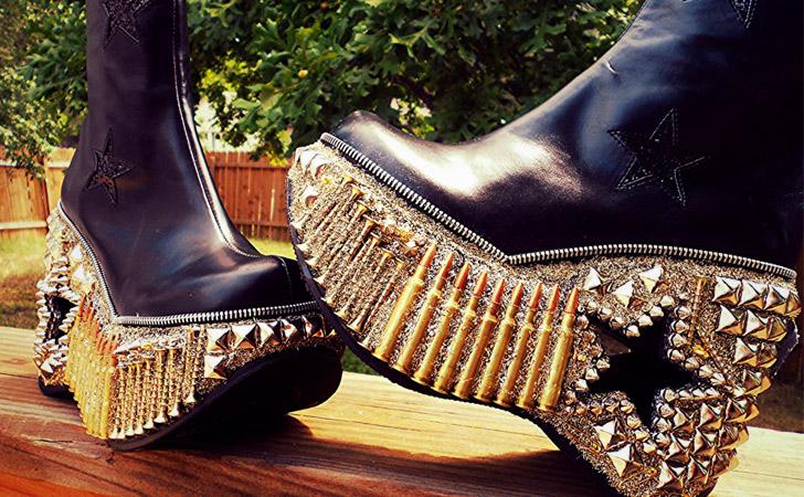 """Apocalyptic Warfare"" Studded Boots"