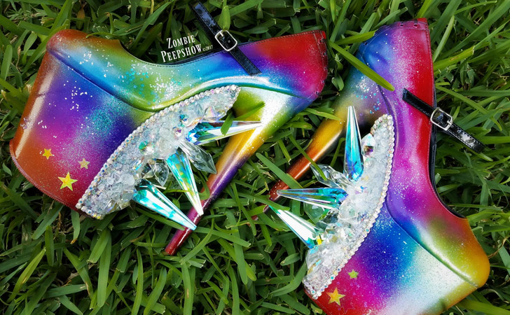 """""""Over The Rainbow"""" Crystal Prism Pumps"""