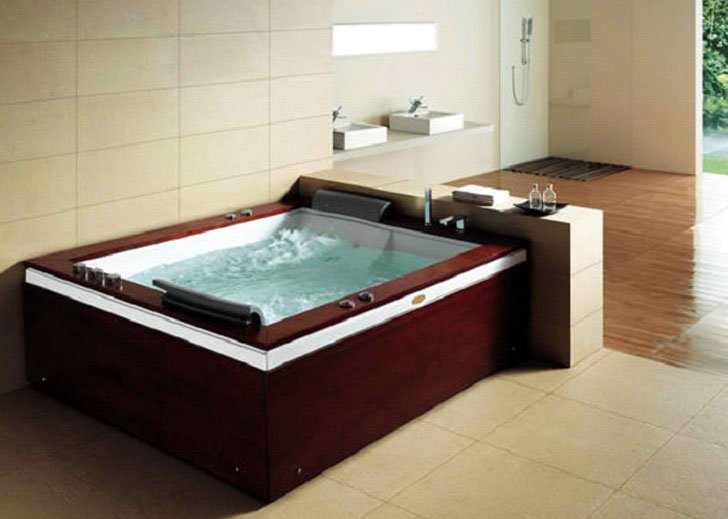 Ambassador Rectangular Drop-In Whirlpool Bathtub