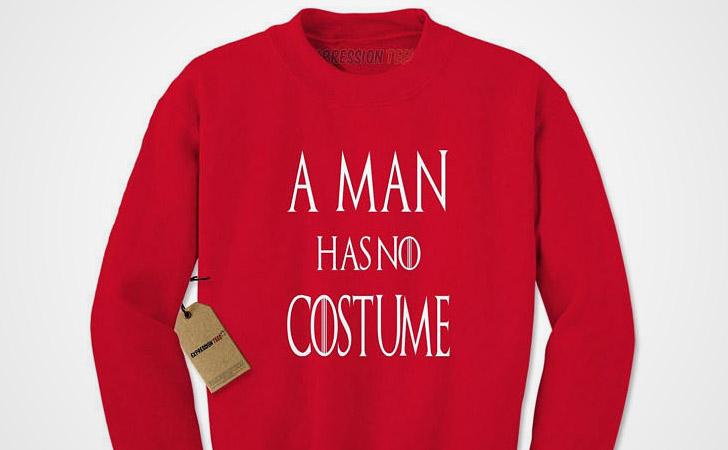 A Man Has No Costume Halloween Hoodie