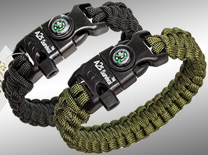 A2S Survival K2-Peak Paracord Bracelet