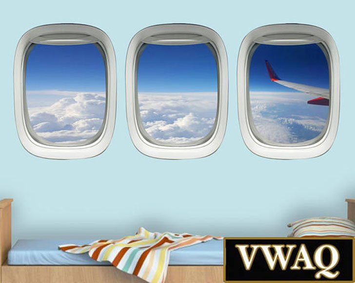 Airplane Window Wall Decals