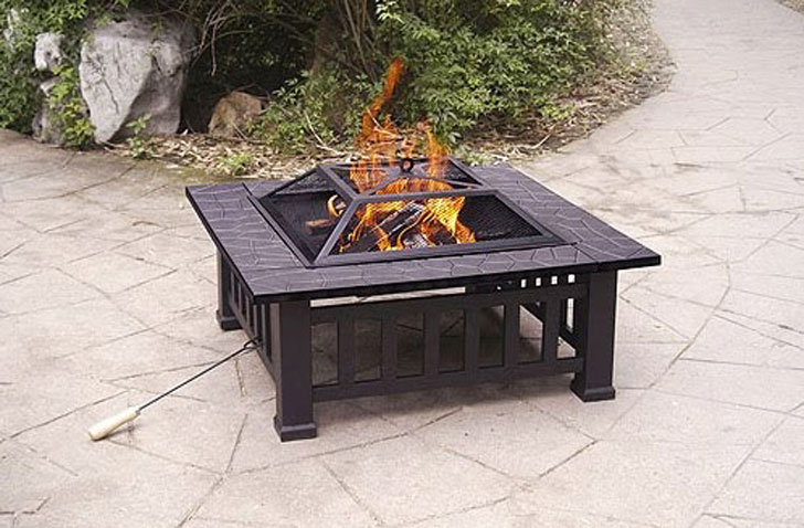 Alhambra Outdoor Fire Pit With Cover