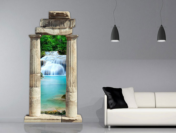 Ancient Gate 3D Wall Decal