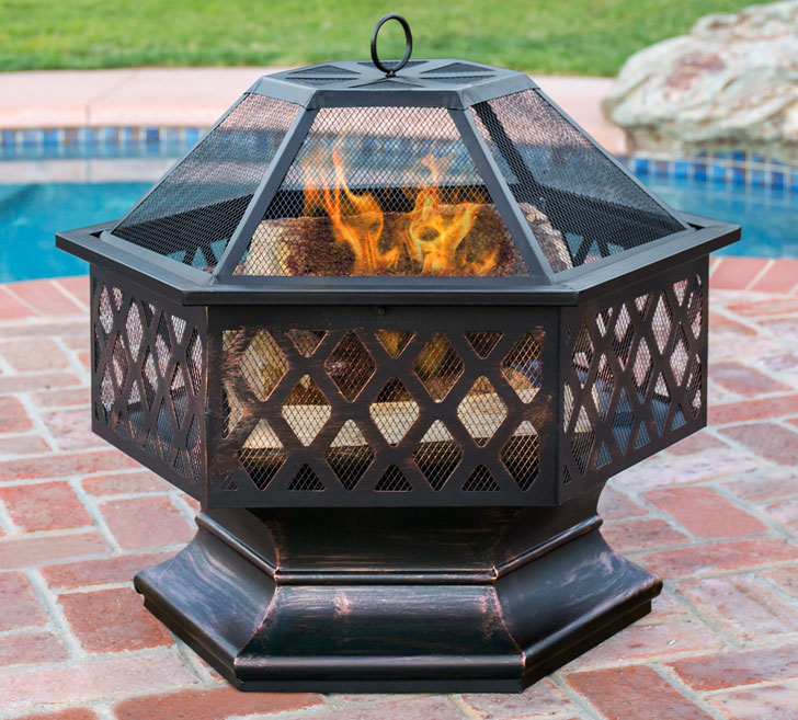 BCP Hex Shaped Outdoor Fire Pit