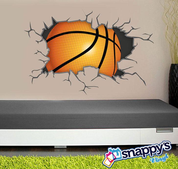 Basketball Breaking Through Wall Scene
