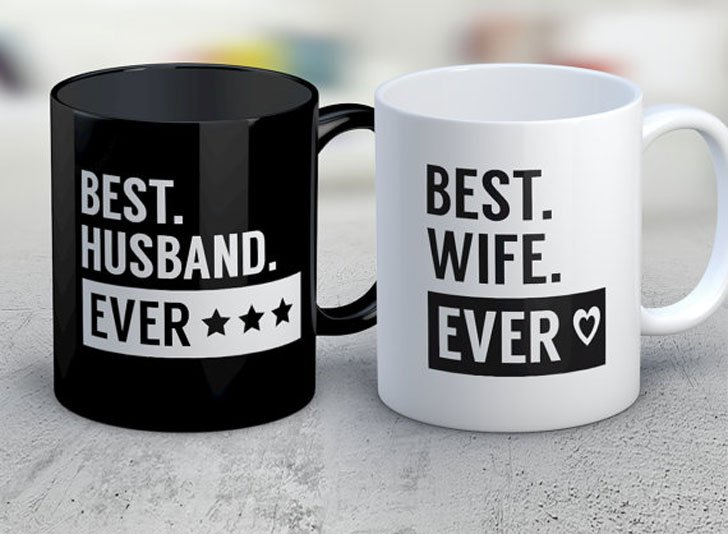 Best Husband & Wife coffee Mugs - Anniversary Gifts For Parents