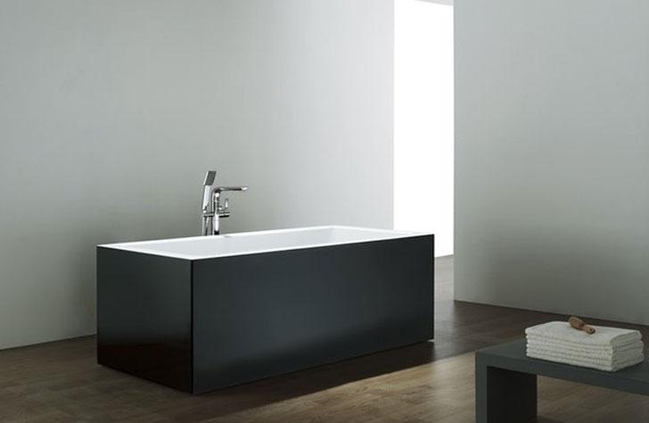 Black Glossy Modern Bathtub