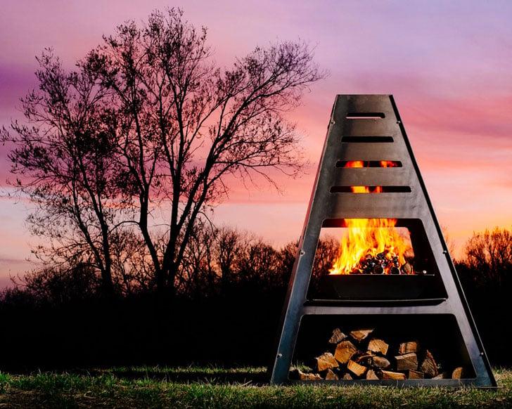 Blaze Monolith Chiminea Fire Pit