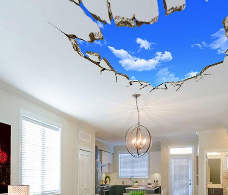Blue Sky 3D Wall Decal