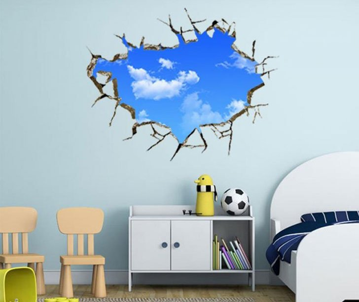 Blue Sky 3D Wall Decal. Would You Like To Wake Up To The Enthralling Blue  Of The Beautiful, Limitless Sky? Here Is A Design You Simply Cannot Resist  To ... Part 70