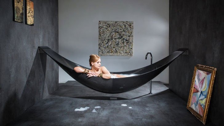 Carbon Fiber Hammock Bathtub - cool bathtubs