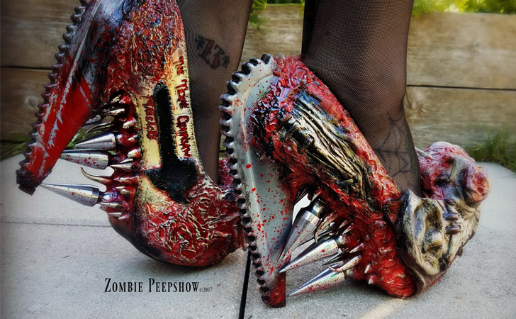Chainsaw Massacre Pumps - weird shoes