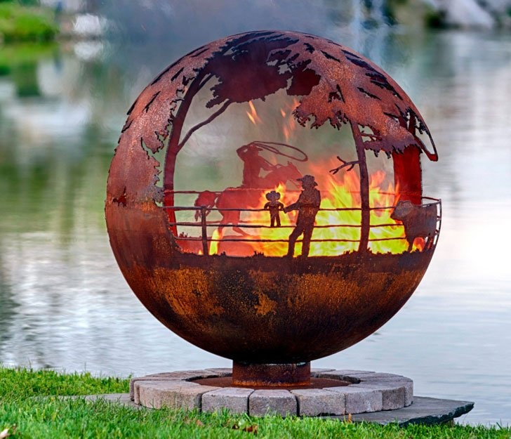 Cowboy Sphere Fire Pit - 40 Incredibly Cool Fire Pits You Can Buy For Your Home!