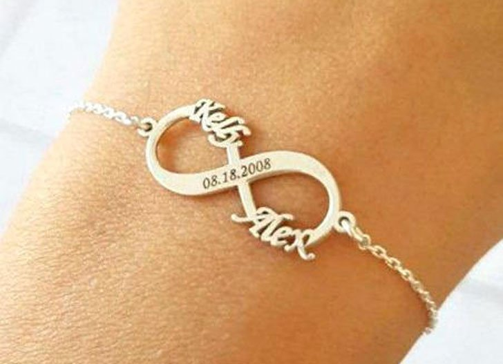 Custom Initial and Dated Infinity Bracelets