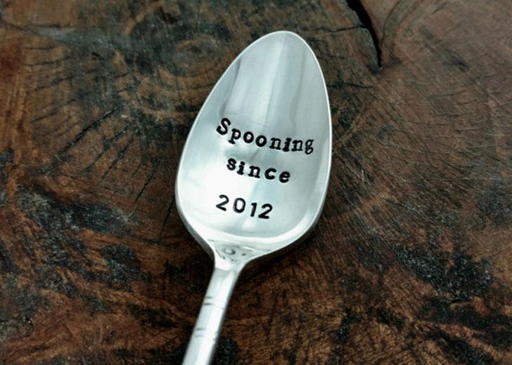 "Custom ""Spooning Since"" Anniversary Spoon"
