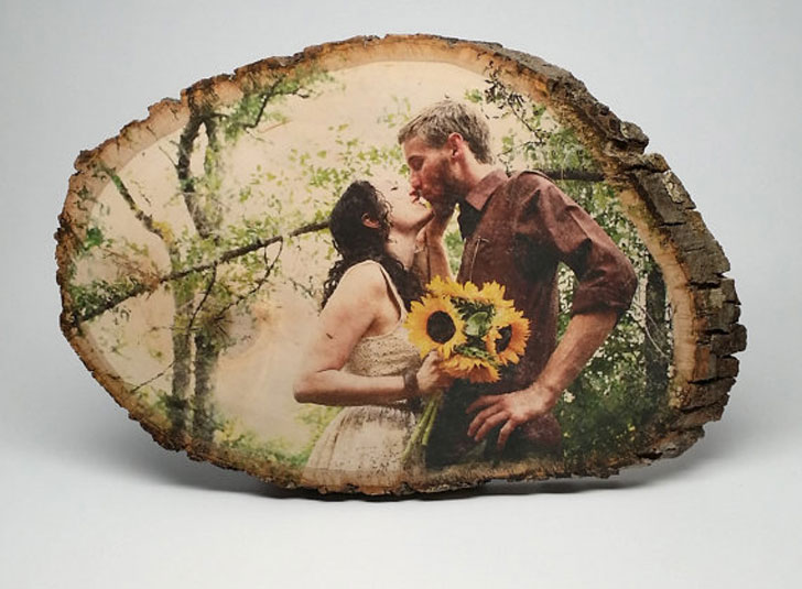 Customised Wedding Photo on Wood