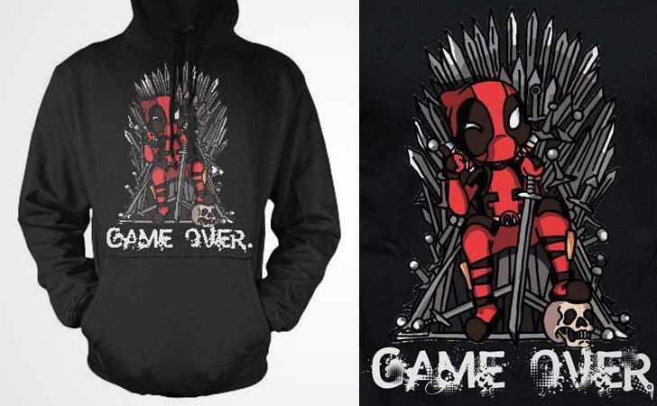 Deadpool Game Over Hoodie
