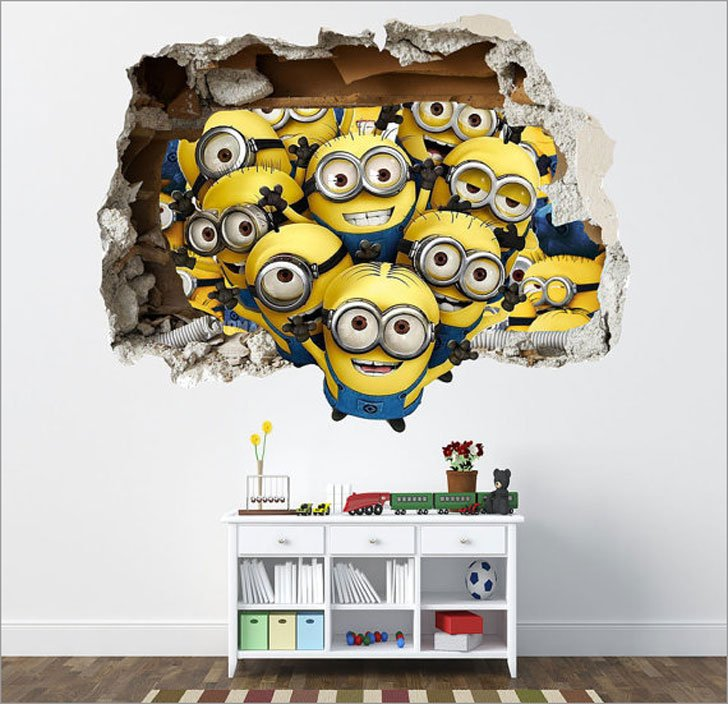 Despicable ME Minions 3D Effect Wall Decal