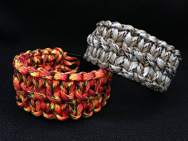 Double Cobra Weave Paracord Bracelets
