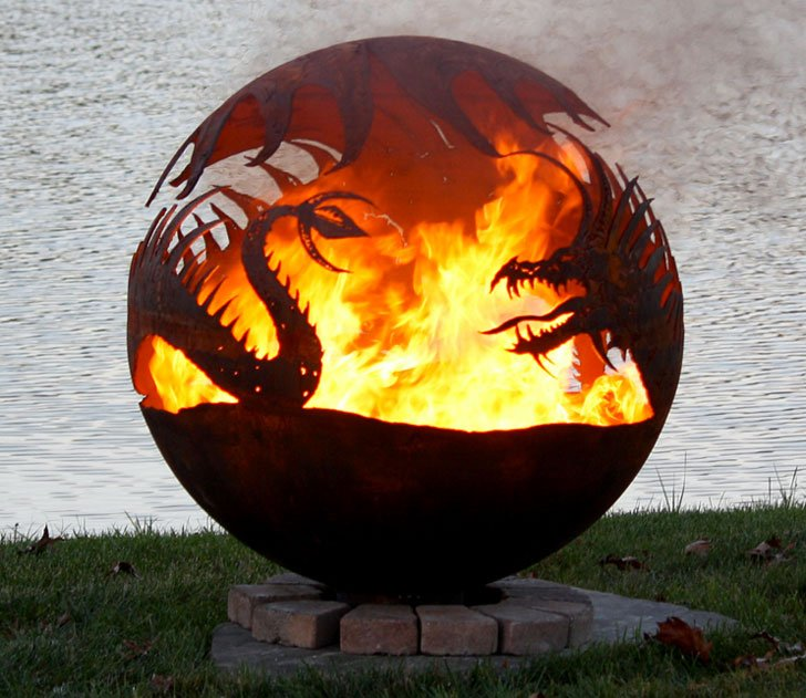 Dragon Fire Pit - Cool Fire pits - 40 Incredibly Cool Fire Pits You Can Buy For Your Home!