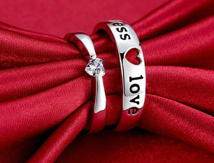 Endless Love His and Hers Couple Rings