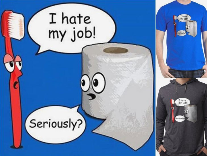 I Hate My Job T-Shirt - funny t shirts for guys