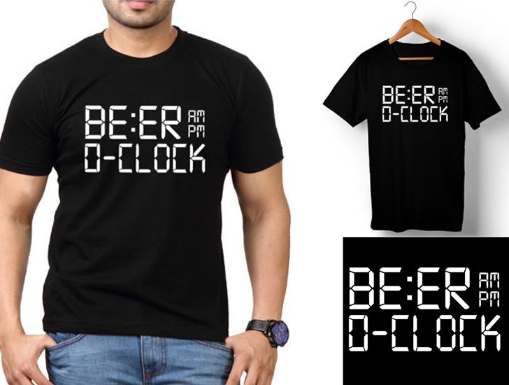 BE:ER O'CLOCK - Funny T-Shirts For Guys