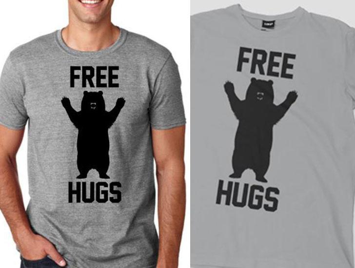 Free Hugs Bear t- Shirt