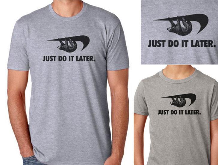 Sloth Procrastinator Motivator T-Shirt