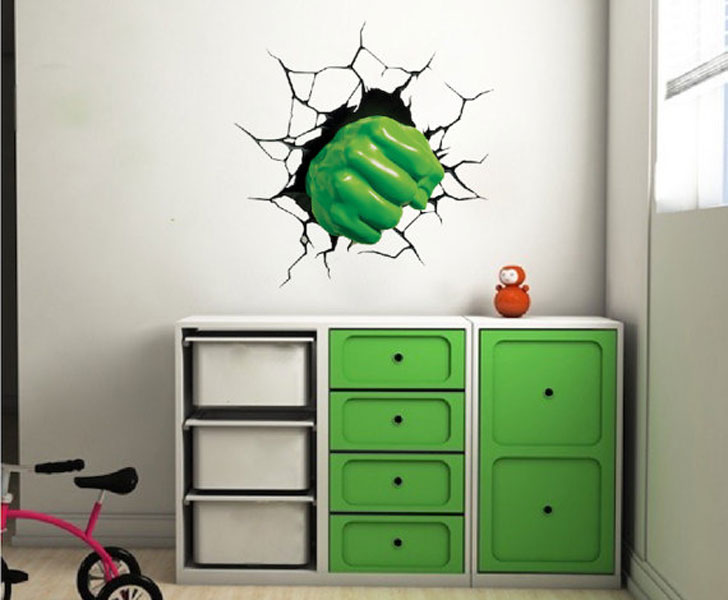 Fist Smash Wall Decal