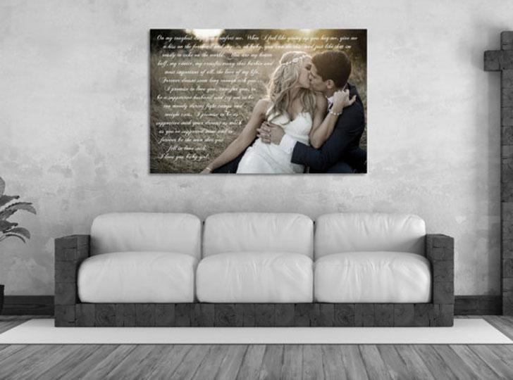 Framed Wedding Vow Keepsake