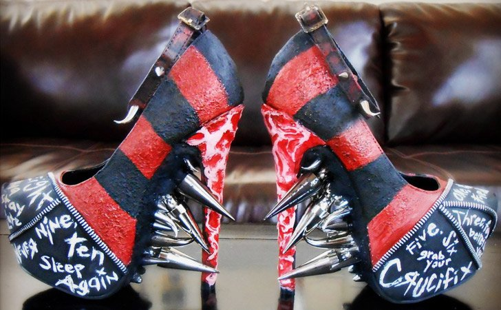 Freddy Krueger Spiked Pumps