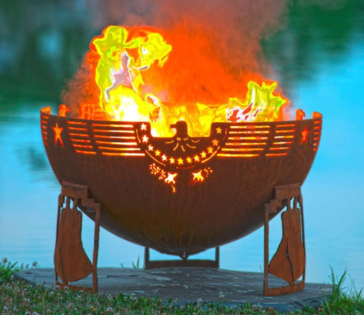 Freedom Fire - Patriotic Fire Pit - cool fire pits