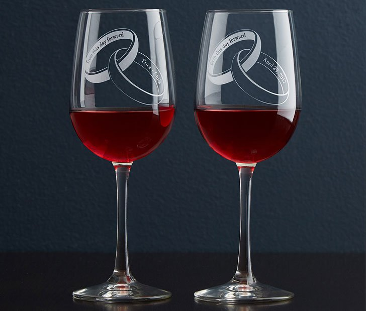 From This Day Forward Glassware - anniversary gifts for parents