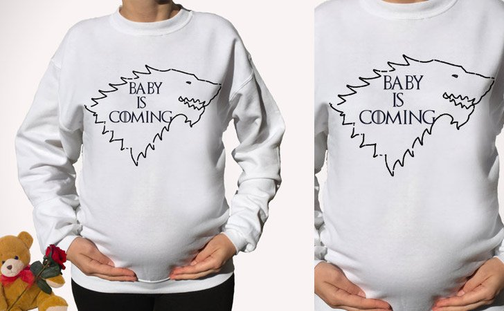 Funny Baby Is Coming Pregnancy Announcement Sweaters