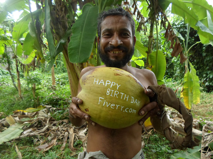 Funny Personalised Coconut Tree Man Anniversary Gift