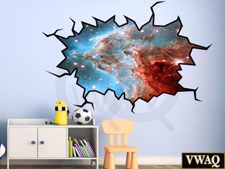 Galaxy 3D Wall Decal