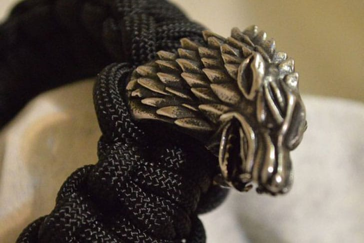Game Of Thrones House Stark Winterfell Paracord Bracelet