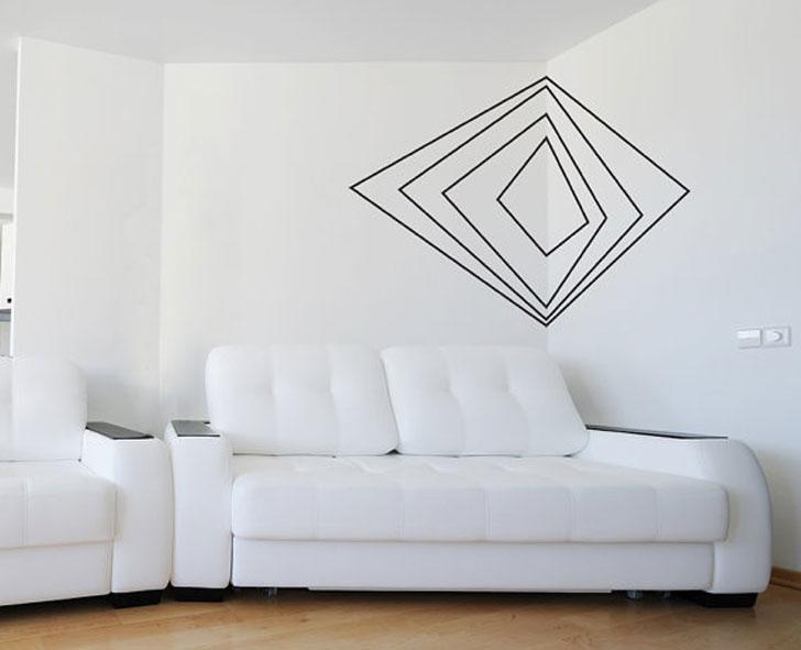 Geometric Abstract Corner Wall Decal